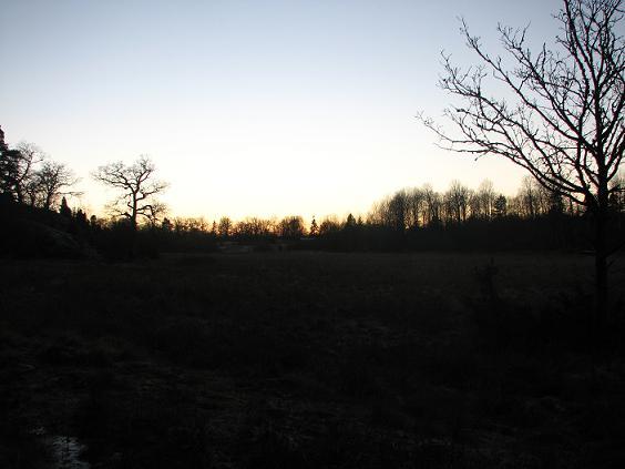 Solnedgång över Tinnerö